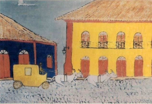 A Carruagem da Praça da Matriz. Gravura de Ludovico Sarcinella.