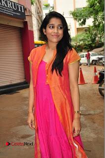 Actress Rashmi Gautam Pictures in Pink Salwar Kameez at Akshara Kalasam Event  0027.JPG