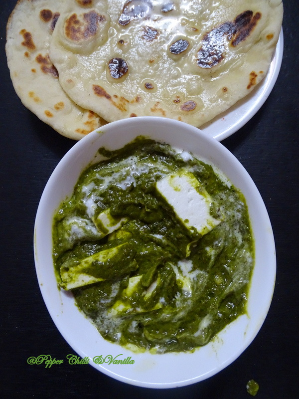 how to make palak paneer