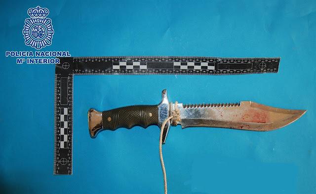 Clava un cuchillo en la espalda a un compañero en Las Palmas de Gran Canaria