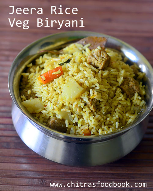 Jeera Rice Veg Biryani Recipe