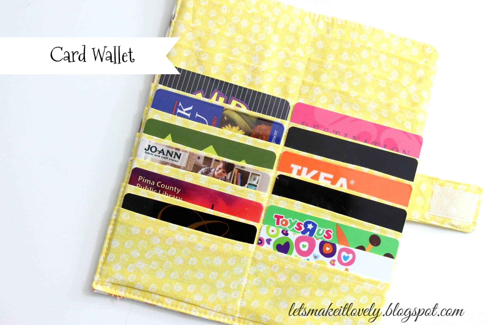 Organize Cards. Card Wallet. Sew Card Wallet.