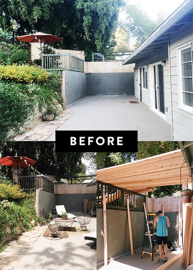 antes y después de la reforma de la terraza