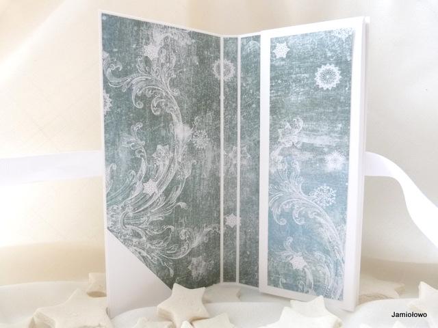 wnętrze czekoladownika ozdobione papierami do scrapbookingu Craft&You