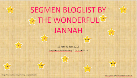 SEGMEN BLOGLIST BY THE WONDERFUL JANNAH