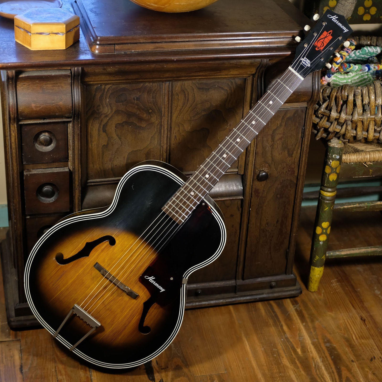 1960s Harmony H1215 Archtop Guitar