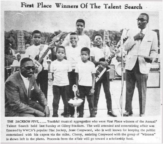 The Jackson Five 1966 on Gary Post Tribune