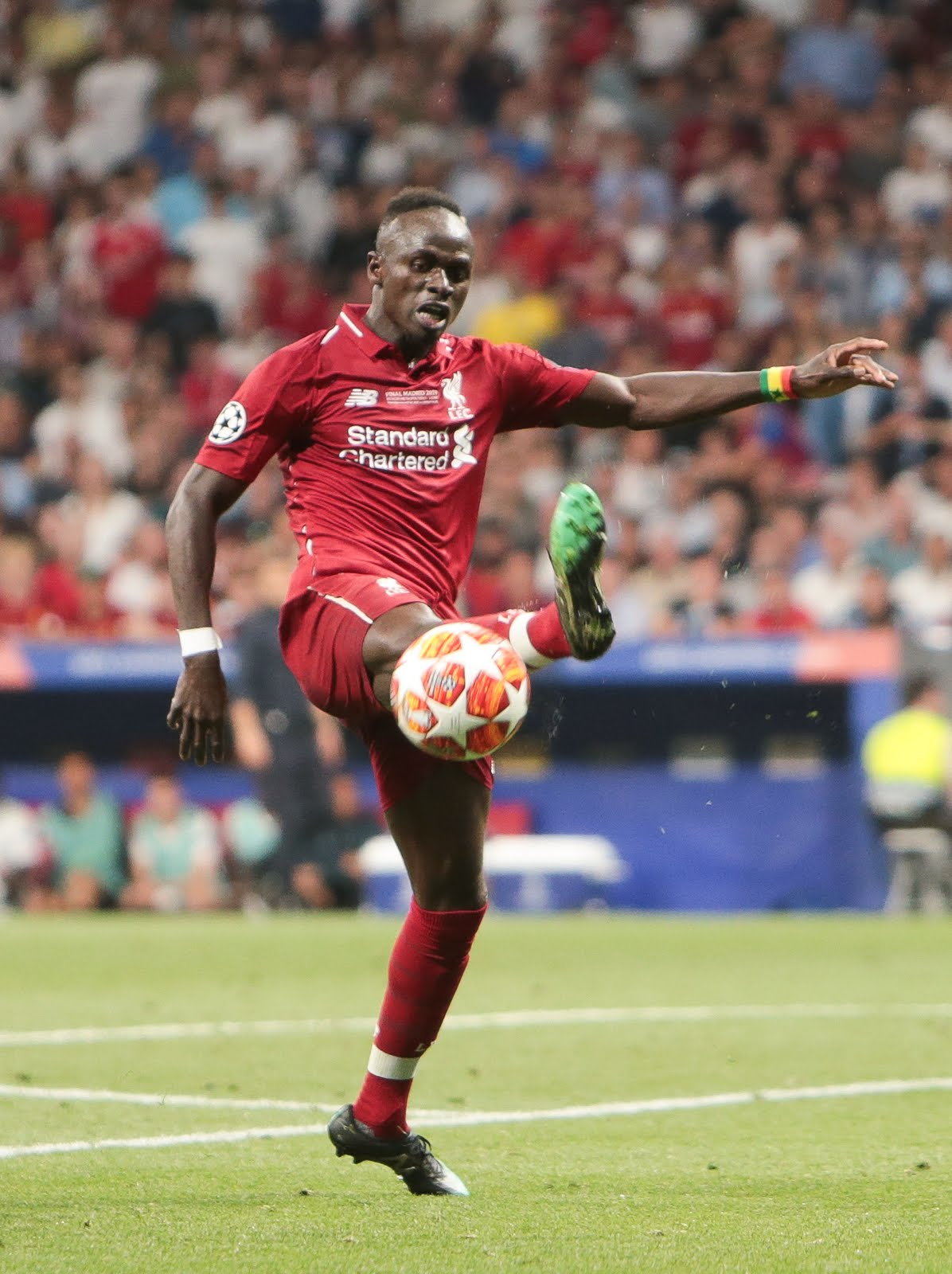 Sadio Mane with the ball for Liverpool