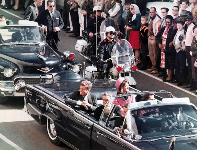 President John F. Kennedy's motorcade in Dallas, November 22, 1963.