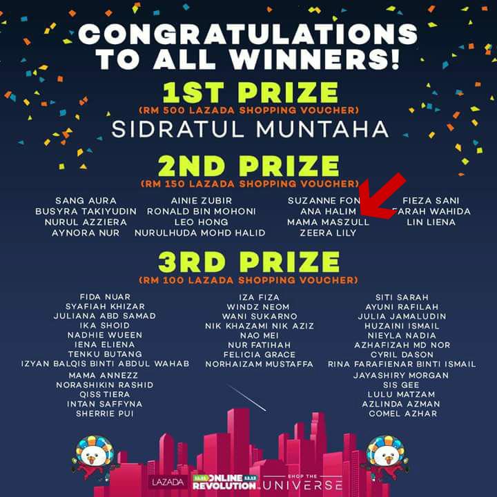 Rezeki Menang Blogger Contest LAZADA