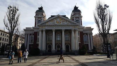 I love that the dude is taking pictures of me in front of the Ivan Vazov National Theater