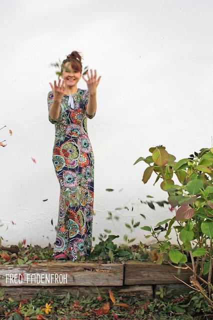Herbstgold; Die wilde Matrossel; Nähen; Kleid nähen; Kleid; Maxikleid