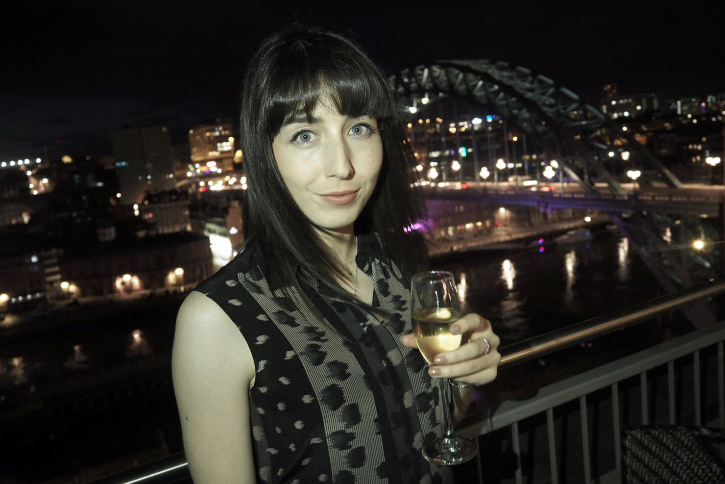 Hello Freckles Hilton Newcastle Gateshead Hotel Review Nebloggers Balcony Fizz AllSaints