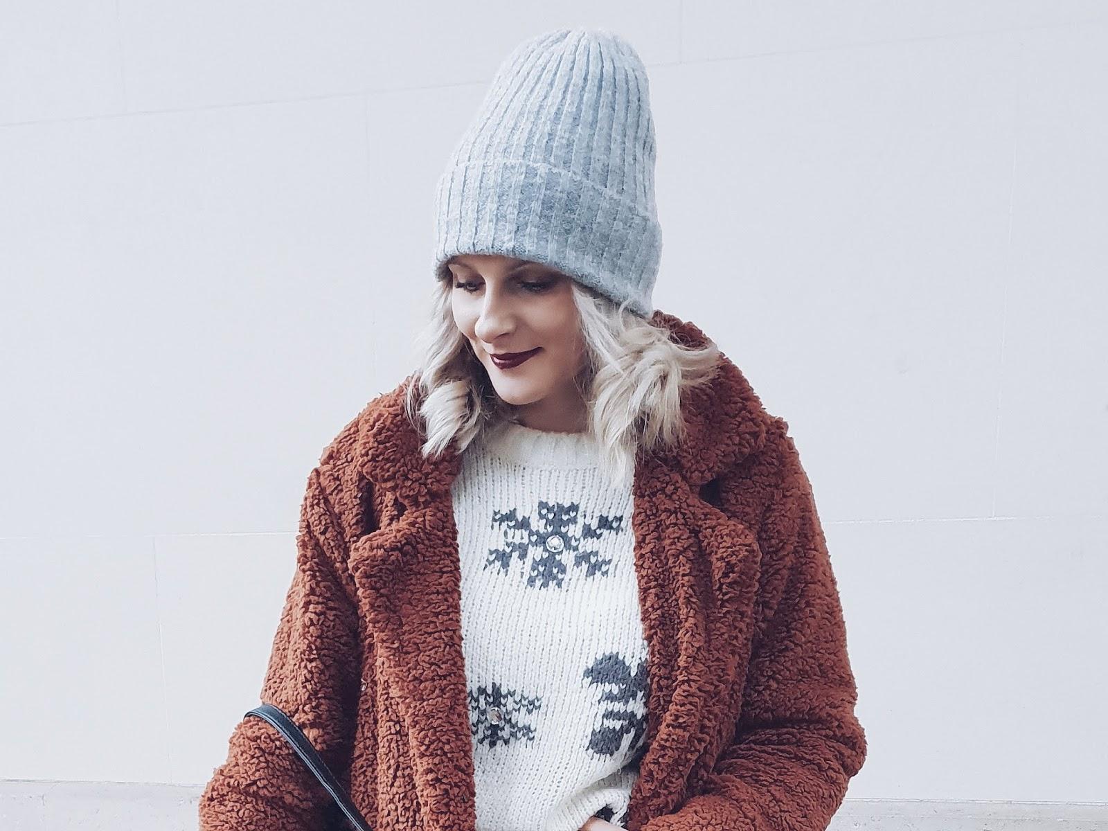 Long teddy bear coat czyli ciepły płaszcz i Timberki