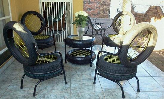 model kursi dari ban bekas