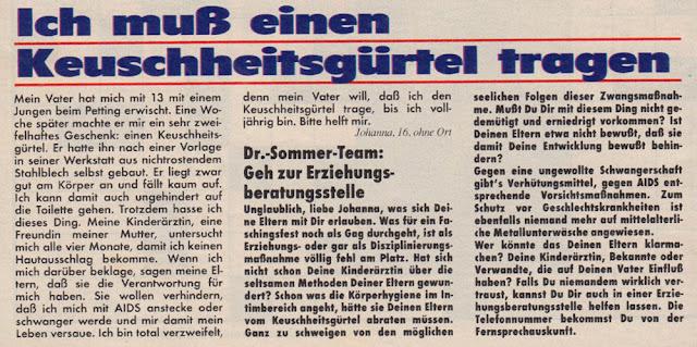vongestern Blog: Dr. Sommer (1990-1993): Muss nicht sein!