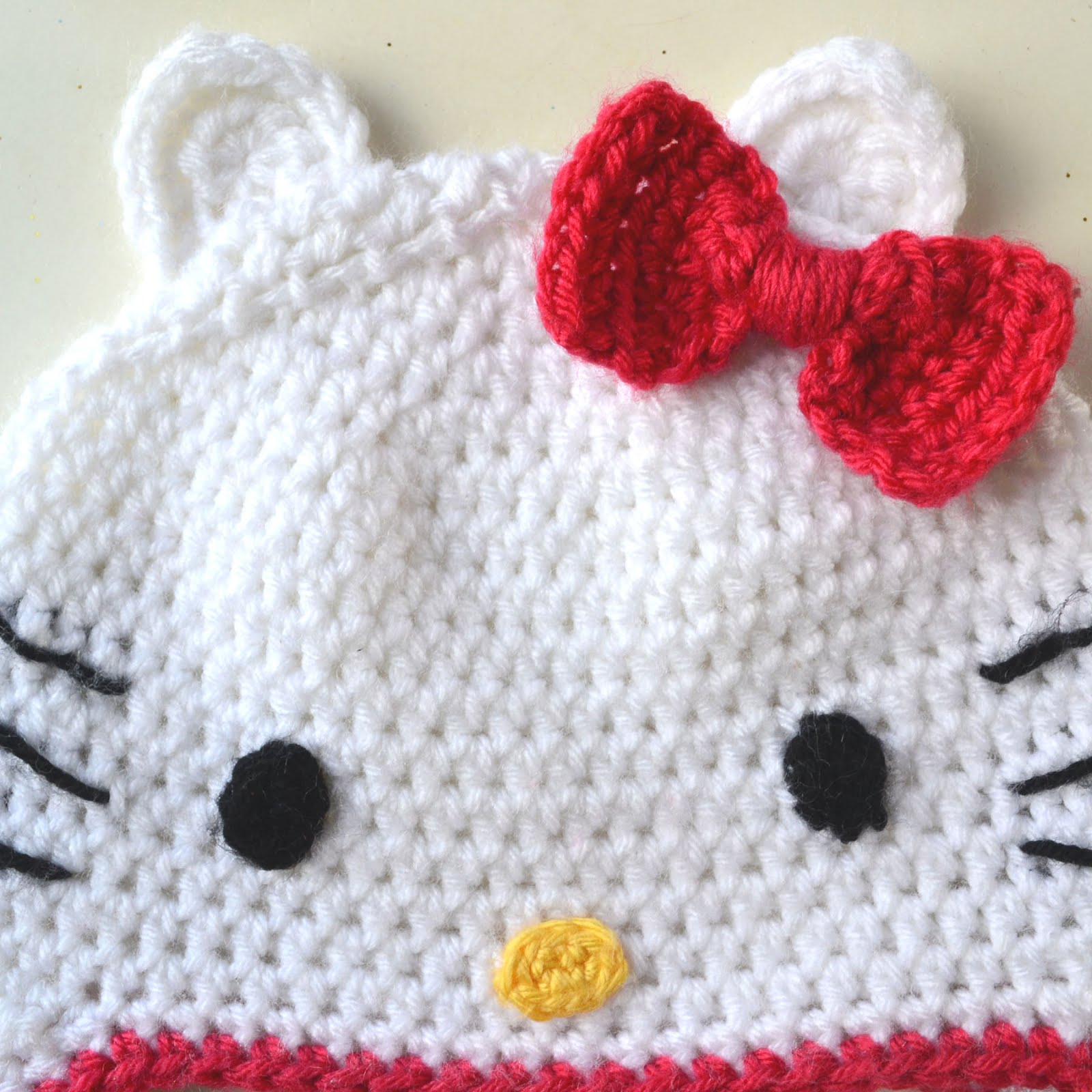 Crochet In Color Hello Kitty Hat Pattern