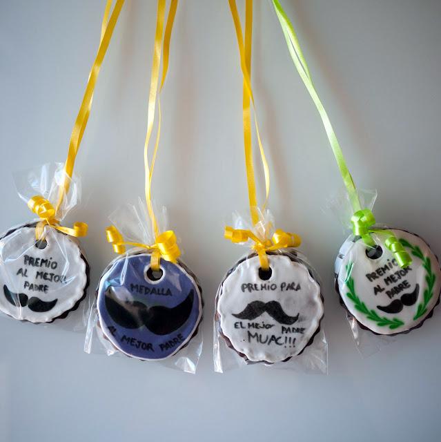 Galletas de medalla para el día del padre