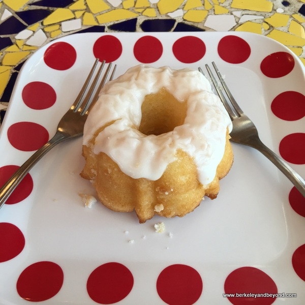 mini lemon Bundt cake at 18th Street Coffeehouse in Santa Monica, California