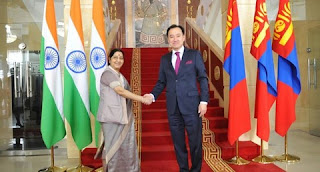 India-Mongolia boost bilateral trade, investment; Sushma said, friends of both the countries are 6 decades old