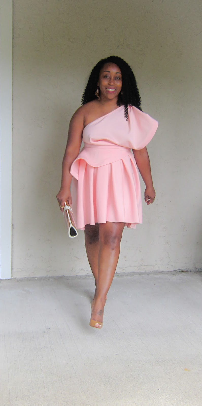Outfit: One-Shoulder Pink Dress | FASHION PAD.........Style, Life ...