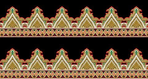 Texttile Border Design PNG 2330
