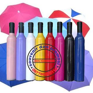 payung botol murah, payung promosi, souvenir promosi, barang promosi, pabrik payung, pusat payung,