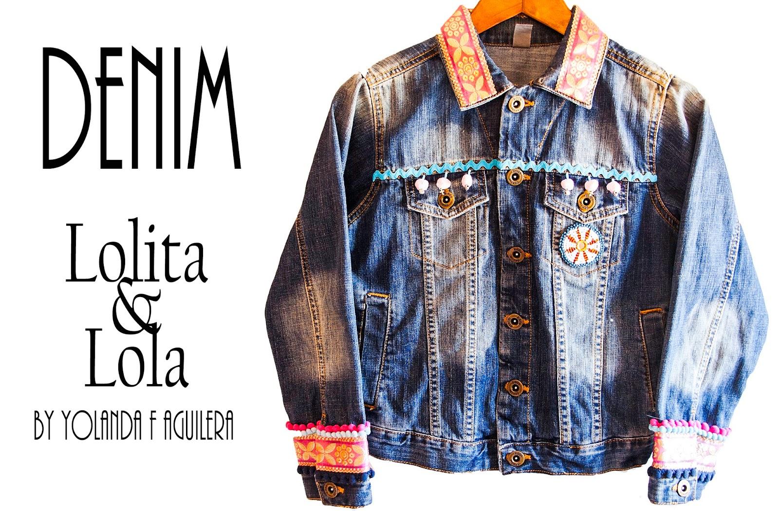 bdee14daeb Cazadora vaquera bordado lolitaylola Embroidered denim jacket lolitaylola