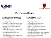 Lowongan Kerja PT Krakatau Steel (Persero) Tbk Tahun 2019