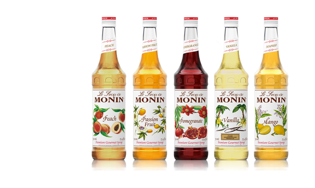 Monin Brand Gourmet Syrups brought to you by Petes Milk