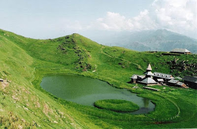 A sacred lake called Parsher Lake in Mandi, H.P