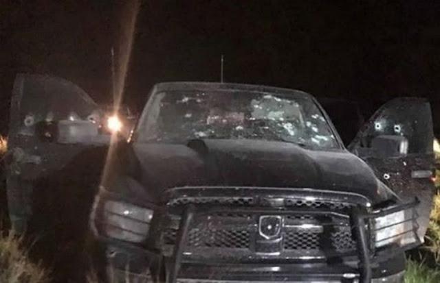 """Sicarios de """"La Línea"""" usarón camioneta de la Fiscalía en enfrentamiento contra """"Gente Nueva"""" en Chihuahua"""
