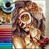 Lápis marrom, café e muita criatividade