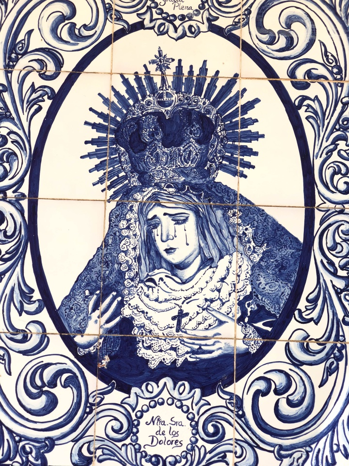 St. Mary on tiles, found in Zahara de la Sierra, Spain