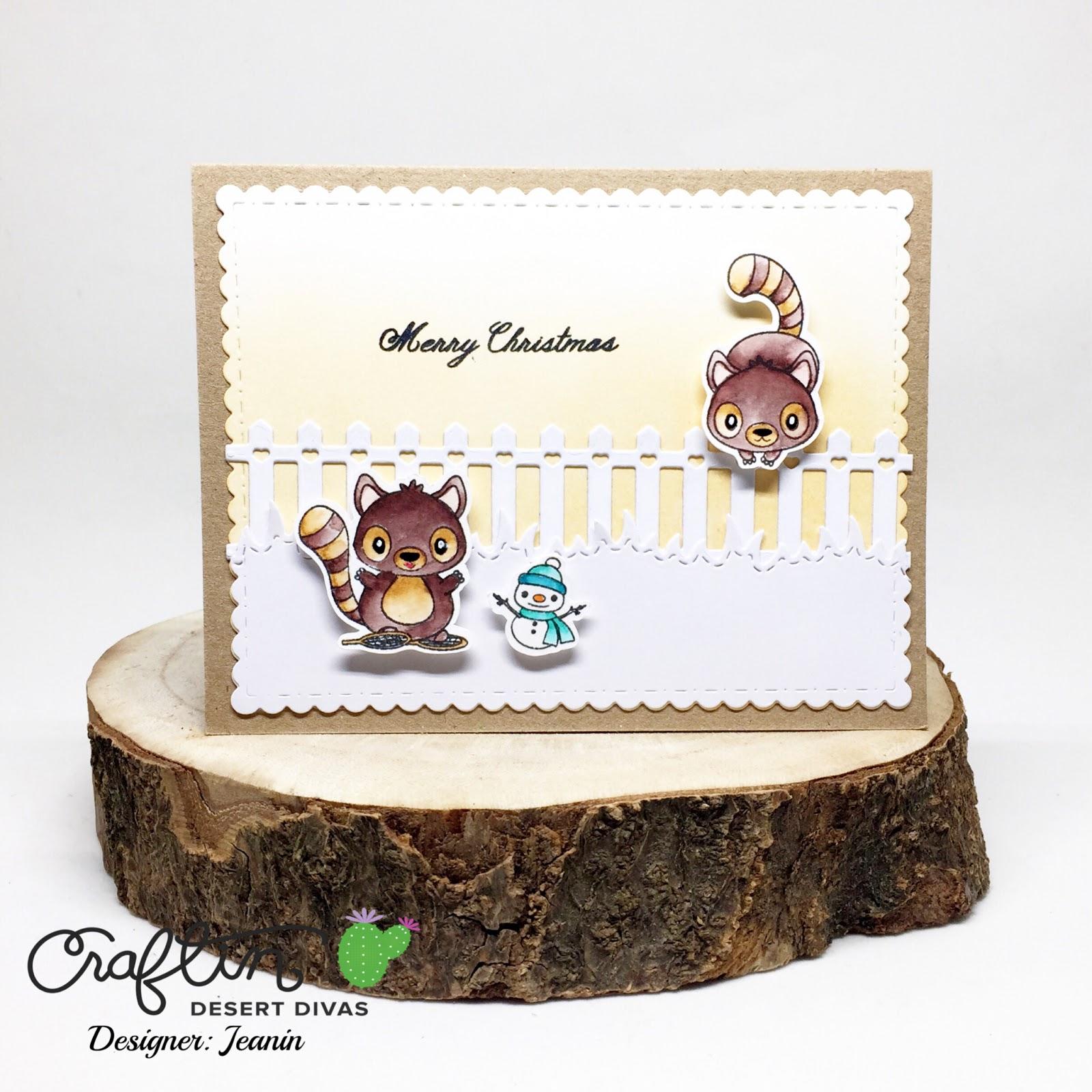 Craftin Desert Divas Blog Late Christmas Card