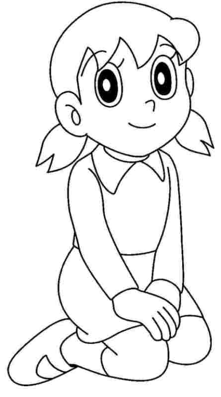 Sketsa gambar shizuka untuk belajar mewarnai anak ...