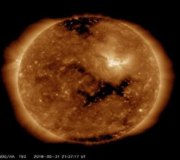 VIENTO SOLAR: TORMENTA GEOMAGNÉTICA CLASE G1 EN PROGRESO HACÍA EL PLANETA.