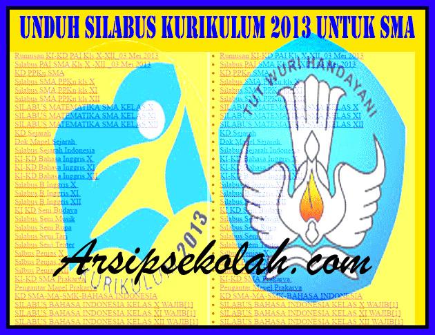 Download Silabus Kurikulum 2013 untuk SMA Versi Terbaru
