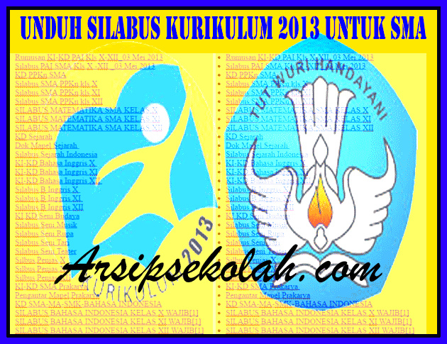 Download Silabus Kurikulum 2013 SMA Versi Terbaru
