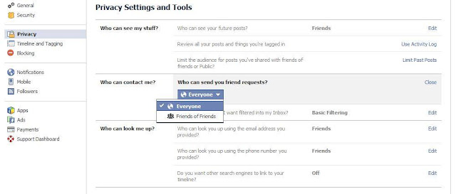 How to remove friend request button on Facebook