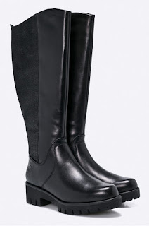 Marco Tozzi cizme originale din piele naturala pentru iarna imblanite cu talpa rezistenta