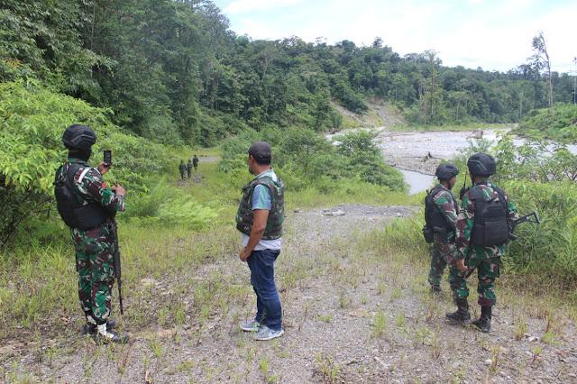 Satgaspam Tinjau Lokasi Pembangunan Jalan dan Jembatan Trans Papua