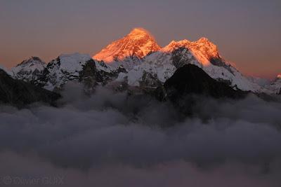 Everest coucher de soleil