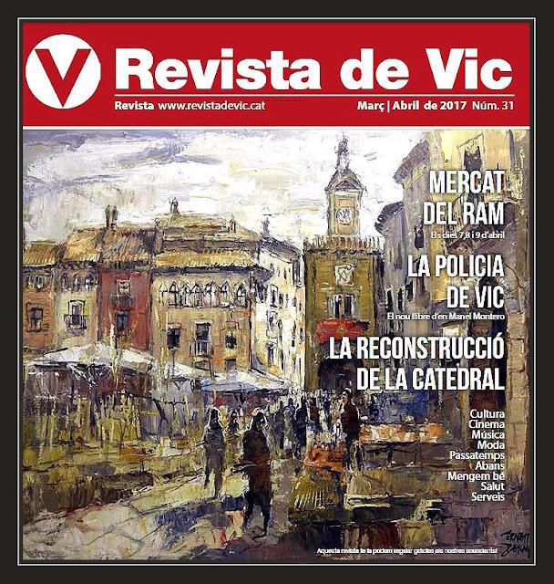 VIC-REVISTA-PINTURA-MERCAT DEL RAM-PORTADA-REVISTES-PORTADES-PINTURES-MERCATS-PINTOR-ERNEST DESCALS