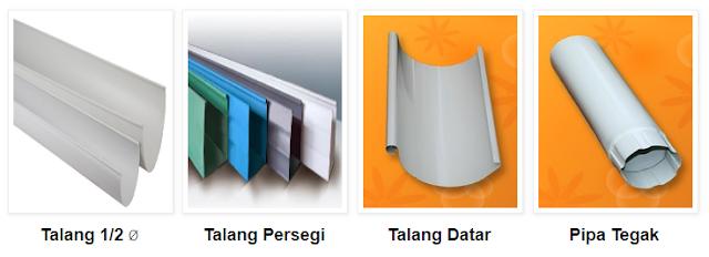 Berapa Harga Talang Air pada toko retail dan toko online