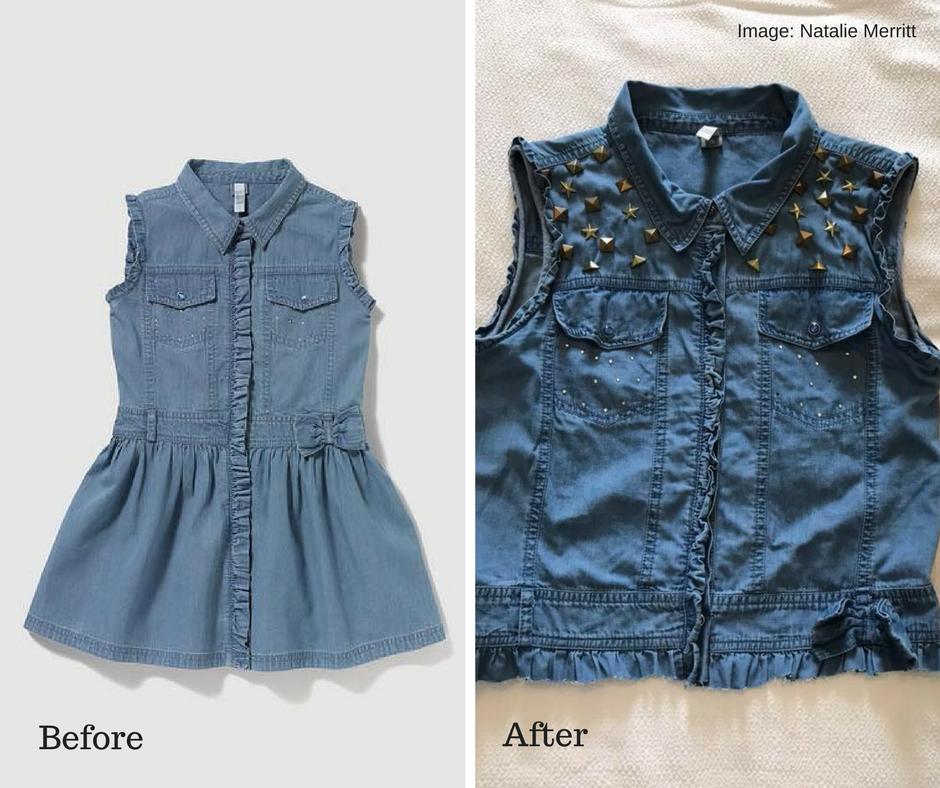 Upcycling a dress to a waistcoat