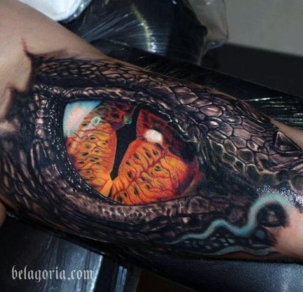 tatuaje de dinosaurio