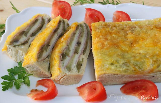 Pastel de berenjenas y queso. Julia y sus recetas