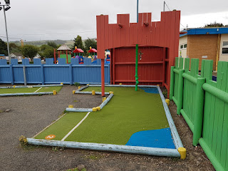 Crazy Golf course at Pontins Prestatyn Sands Holiday Park