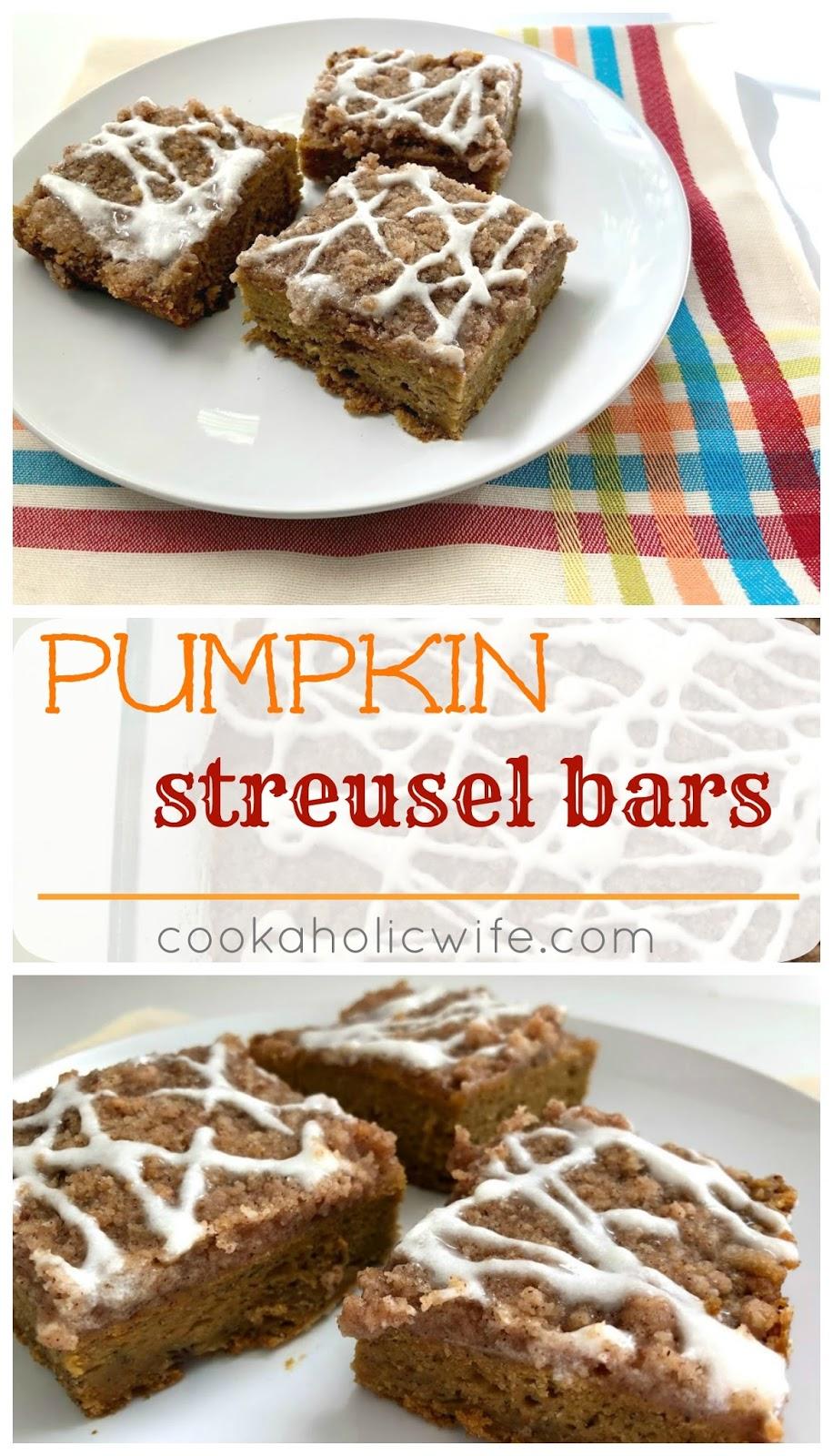 #FilltheCookieJar #PumpkinWeek: Pumpkin Streusel Bars ...